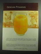 1968 Florida Citrus Commission Ad - Delicious Potassium