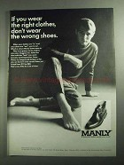 1968 Manly George Strap Boot Ad - Right Clothes