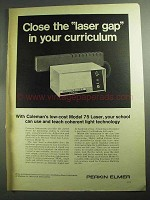 1968 Perkin-Elmer Model 75 Laser Ad - Close the Gap