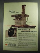 1968 Signode Model HSMD 300 Automatic Strapping Ad