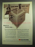 1968 Signode Strapping System Ad - A Better Way