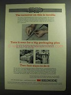 1968 Signode Ad - VFD Tool, MD300, MD310 Strapping