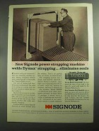 1968 Signode Model MD300 Strapping System Ad