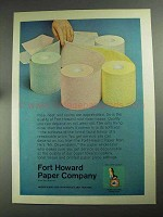 1968 Fort Howard Rest Room Tissue Ad - Nice, Neat