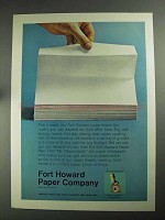 1968 Fort Howard Paper Towel Ad - Pick a Towel