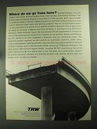 1968 TRW Inc. Ad - Where Do We Go From Here?