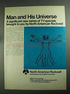 1968 North American Rockwell Ad - Man and Universe