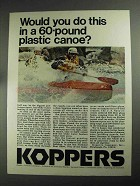 1968 Koppers Company Ad - 60-Pound Plastic Canoe