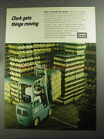 1968 Clark Forklifts Ad - Handle Your Drinks