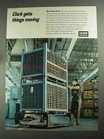 1968 Clark Load Glide Pallet Ad - On a Film of Air