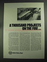 1968 United States Steel Ad - Projects on the Fire