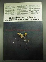 1968 Univac Computers Ad - White Ones Are The Men
