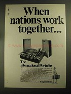1968 Benjamin 1020 Portable Turntable Ad - Nations Work