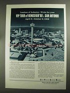 1968 City Public Service Board Ad - Hemisfair