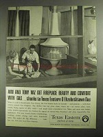 1968 Texas Eastern Ad - Fireplace Beauty and Comfort
