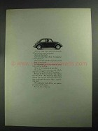 1968 Volkswagen Bug Ad - Humble Bug Gone Automatic