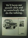 1968 Renault 10 Car Ad - Keep Our Mouth Shut