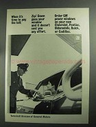 1968 GM Ternstedt Power Windows Ad - Pay The Toll