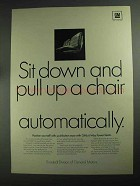 1968 GM Ternstedt 6-Way Power Seats Ad - Pull Up