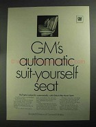 1968 GM Ternstedt 6-Way Power Seats Ad - Suit-Yourself