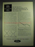 1968 Ford Research Laboratories Ad - Macromolecules