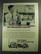 1968 Dodge Trucks Ad - Concerned With R&D than RPM