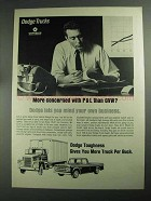 1968 Dodge Trucks Ad - Concered With P&L Than GVW