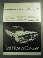 1968 Chrysler Newport 2-Door Hardtop Car Ad