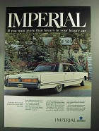 1968 Chrysler Imperial LeBaron Ad - More than Luxury