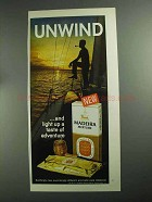 1968 Madeira Pipe Tobacco Ad - Unwind!
