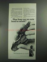 1968 Bering Cigars Ad - We Exist Hand To Mouth