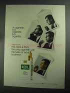 1968 Kool Cigarettes Ad - A Cigarette is a Cigarette