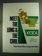 1968 Kool Cigarettes Ad - Meet the Long & The Cool
