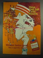 1968 Winston Cigarettes Ad - Flavor Your Fun