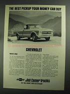 1968 Chevrolet 3/4 ton Fleetside Pickup Ad - The Best