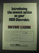1968 Chevway Leasing Ad - Newest Option on Chevrolet