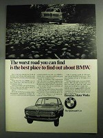 1968 BMW Car Ad - The Worst Road You Can Find
