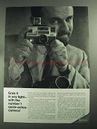 1968 Kodak Instamatic 804 Camera Ad - In Any Light