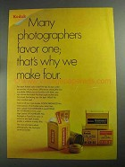 1968 Kodak Color Slide Film Ad - Favor One
