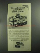 1968 Kodak Instamatic 804 Camera Ad - Simple Minded