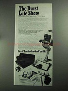 1968 Durst M600 Enlarger Ad - The Late Show