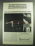 1968 Technicolor 1000 Slide Projector Ad - Wanted Most
