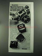 1968 Miranda Sensorex Camera Ad - View the Spot Meter