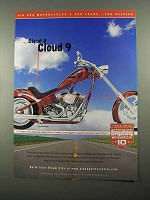 2004 Big Dog Chopper Motorcycle Ad - Cloud 8 Cloud 9