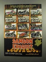 2004 Samson Exhaust Ad - Improved Performance