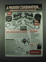2004 Edelbrock Twin Cam EFI Power Package Kits Ad - Proven