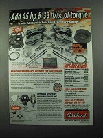 2004 Edelbrock Twin Cam EFI Power Package Kits Ad