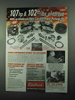 2004 Edelbrock Twin Cam EFI Power Package Kits Ad - Torque