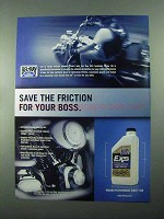 2004 Bel-Ray EXS Synthetic Motor Oil Ad - Friction Boss