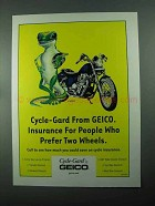 2004 Geico Cycle-Gard Insurance Ad - Prefer Two Wheels